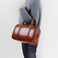 2018 Women's Original Pillow Handbag Genuine Leather Top Handle Bag Elegant Messenger Shoulder Sling Bag Office Ladies Handbag