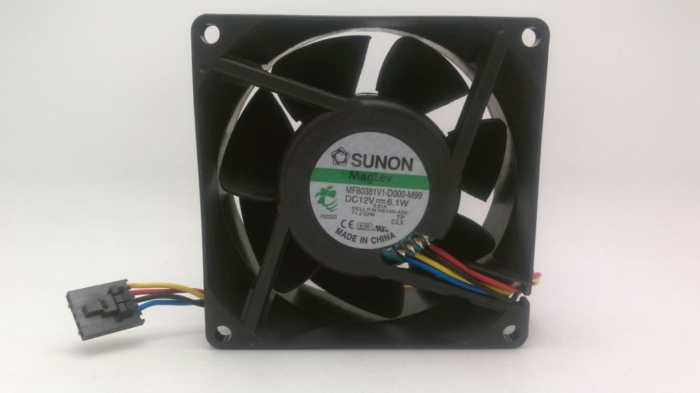 Original Sunon MF80381V1 D000 M99 for Dell H814N A00 2U font b server b font cooling
