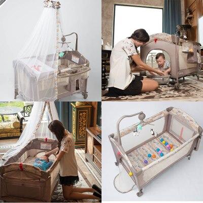 Berceau européen Portable pliant nouveau lit bébé multi-fonction lit de jeu pour enfants nouveau lit de voyage bébé nouveauté berceau - 2