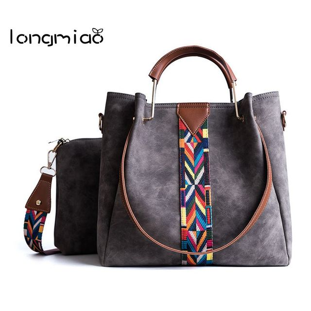 68b556a7090b longmiao Luxury Brand Designer Bucket Bag Women PU Leather Shoulder bag  Wide Color Strap Handbag Ladies Crossbody Composite Bag