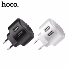 HOCO C67 USB Plug Charge Block 2.4A Dual Charger Ports Travel Fast Charging for iphone 7 8 X Samsung S10 Xiaomi