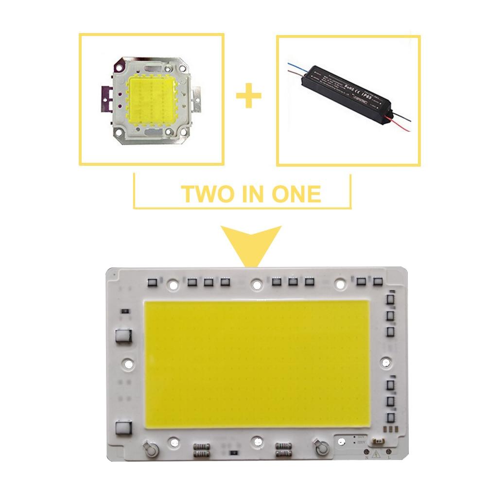 LED Lamp 220V COB Chip overvoltage Protection Smart IC No driver 50W 100W light beads For diy SpotLight Downlight Outdoorlamp in Light Beads from Lights Lighting