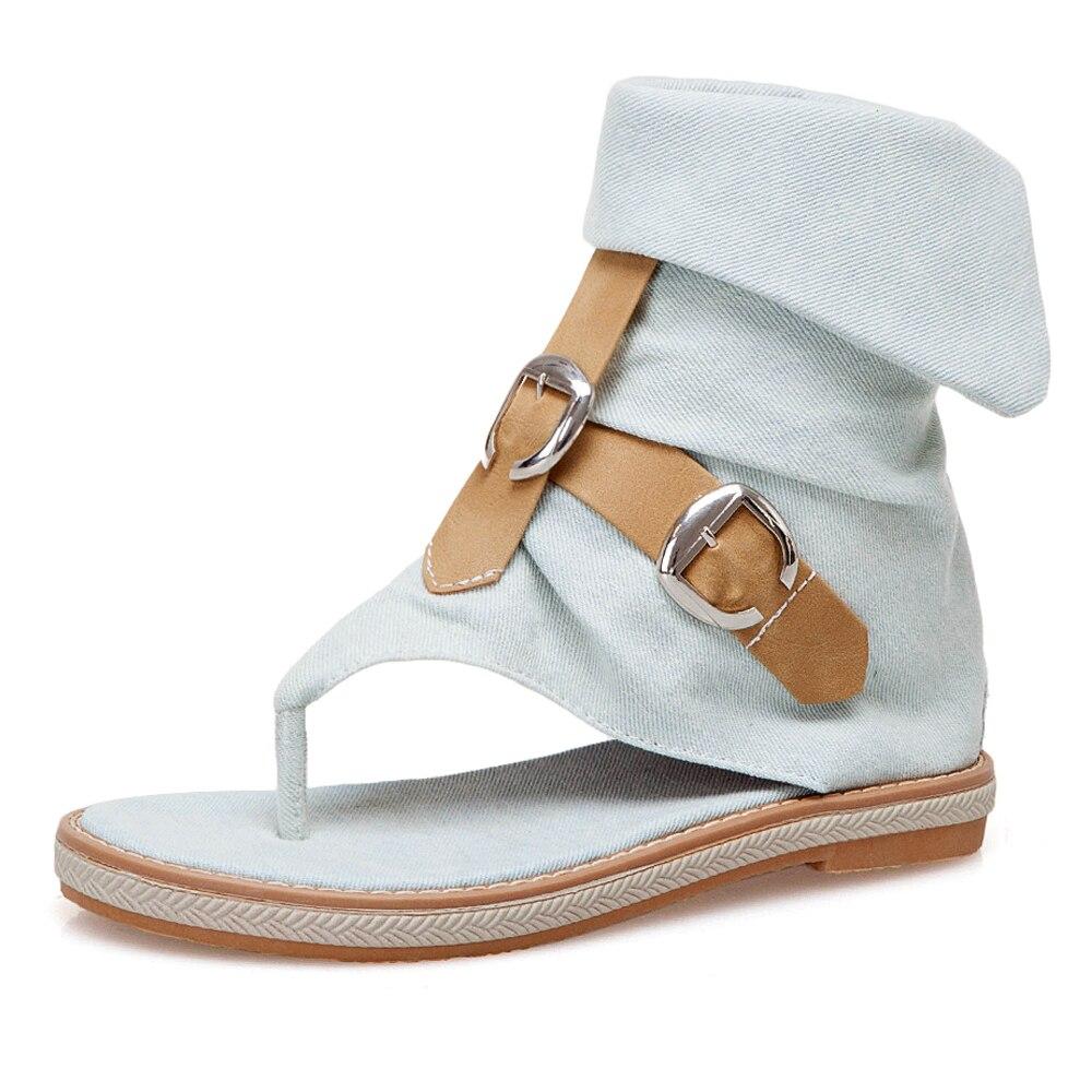 CDPUNDARI Ladies Denim Flat sandals for women Platform Sandals summer shoes woman Gladiator Sandals sandalias mujer CDPUNDARI Ladies Denim Flat sandals for women Platform Sandals summer shoes woman Gladiator Sandals sandalias mujer 2019