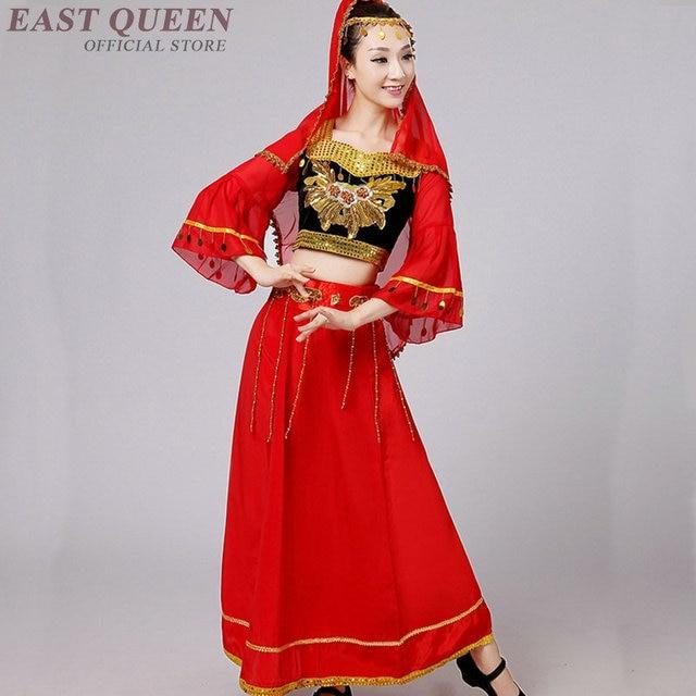 b2f61da737cd Chinese folk dance costumes clothing dress stage dance wear national  orienal Asia traditional chinese dance costumes FF1119