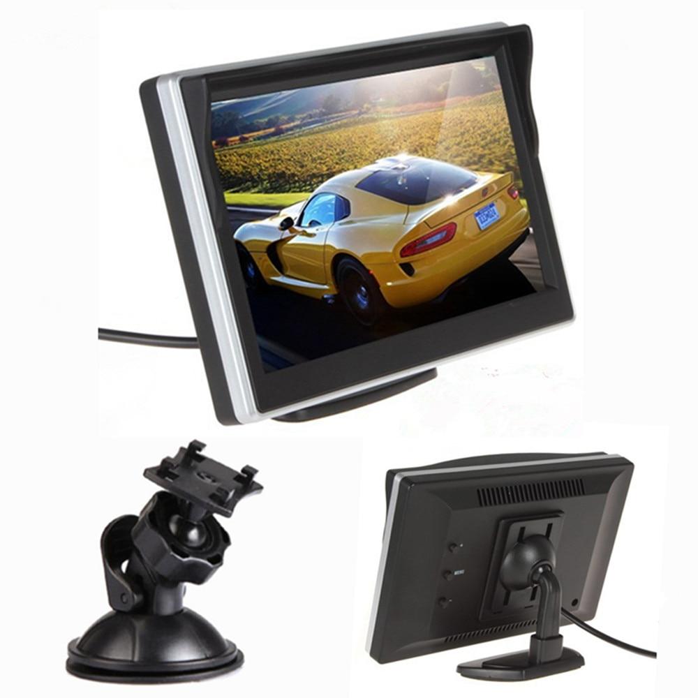 """"""" TFT lcd цветной экран автомобильный монитор HD800* 480 Автомобильный парковочный монитор заднего вида для камеры заднего вида VCD DVD VCR - Цвет: Silver two bracket"""