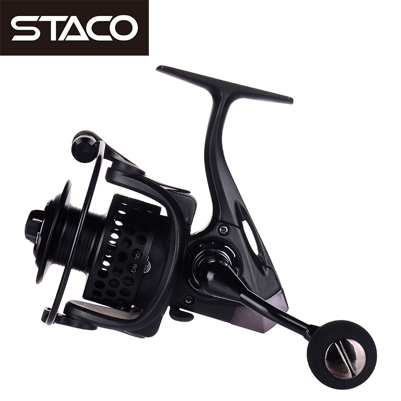 STACO 14BB Fishing Reel Handle Knob 2000-7000 Series Metal Spinning Reel Seat 5.2:1 Pre-Loading Spinning Wheel Surf Reel Casting