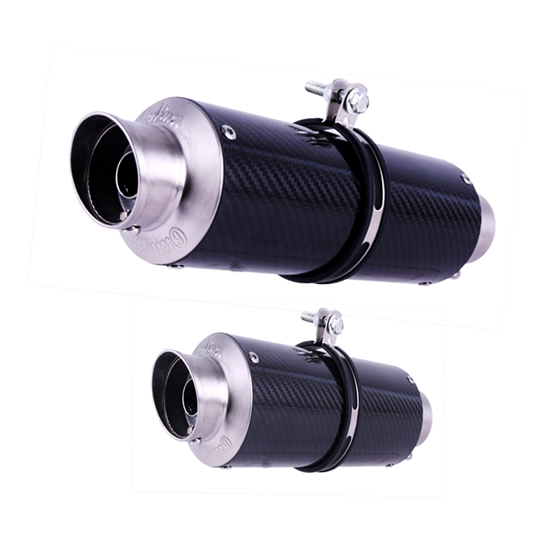 36~51mm Universal Motorcycle Real Carbon Fiber Exhaust Muffler Escape Slip-On Pipe For Most Motorcycle
