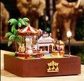 Бесплатная Доставка новые DIY ручной кабины карусель в Парке Развлечений, миниатюрный Кукольный дом/монтаж модель творческие подарки для любовника