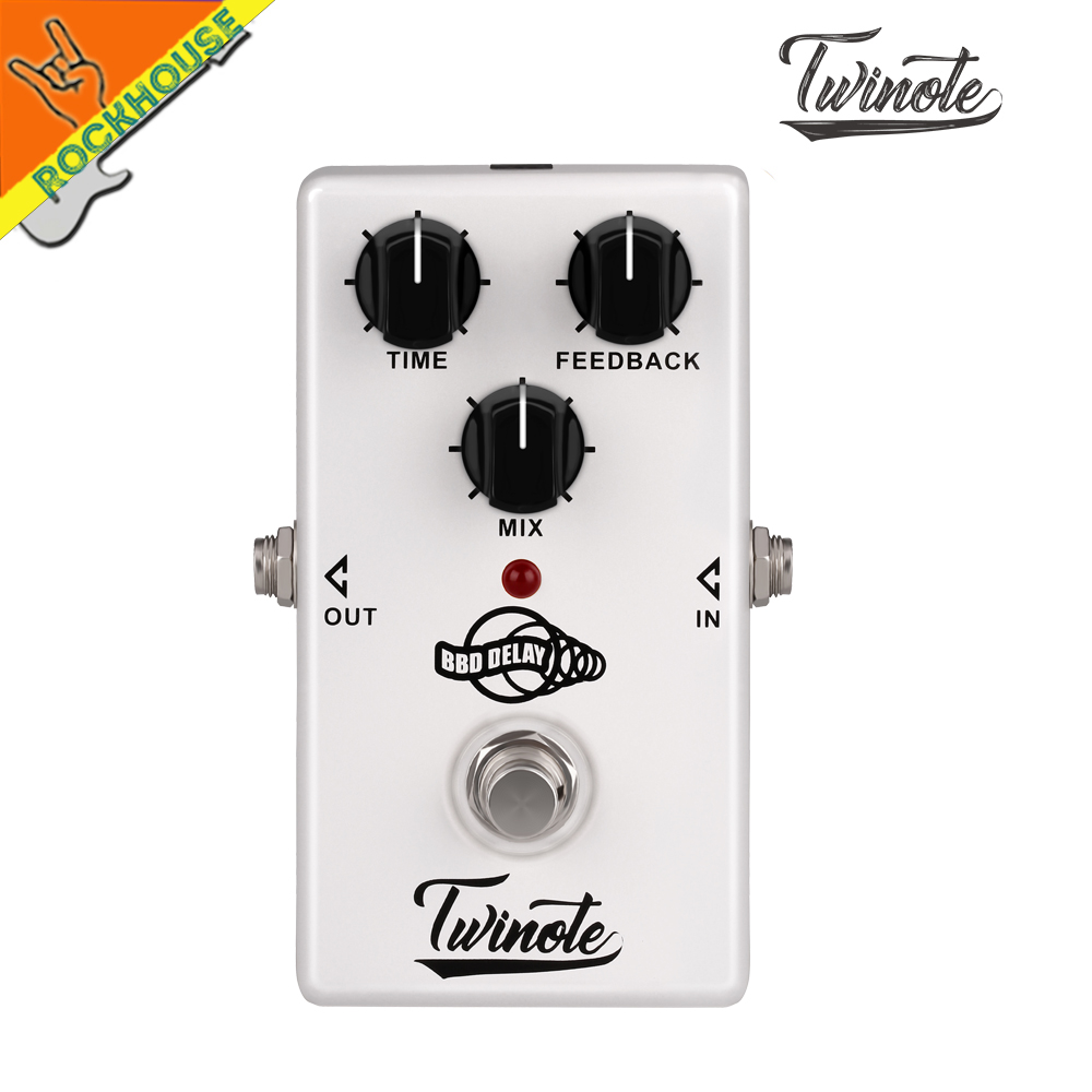 NUX Twinote Delay Guitar Effects Pedal Analog Delay effect 600ms Delay time Warm and Smooth true