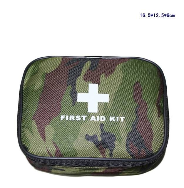 40pcs/Set Safe Outdoor Camouflage Survival Travel First Aid Kit Camping Hiking Medical Emergency Kits Treatment Pack FAK-S11