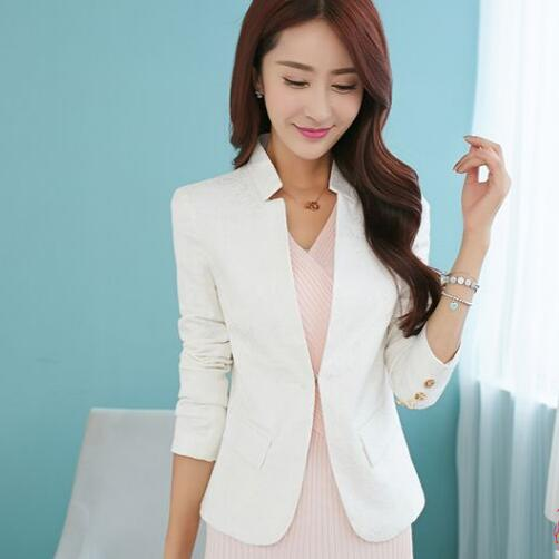 High Quality 2018 New Spring Clothes Collar Suit Jacket Slim Female