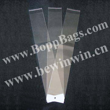 "20"" Hair Extension Bags (10x58cm) with white header and self adhesive tape seal & Free Shipping"