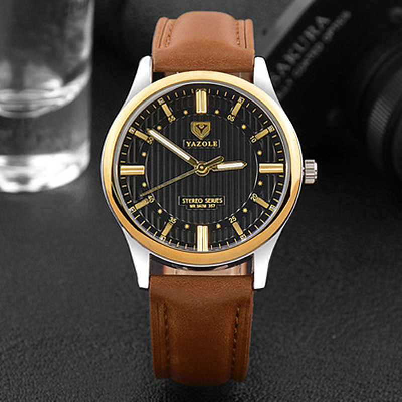YAZOLE Top Fashion Luxury Brand Men Watch Casual Male Clock Quartz-watch Business Rose Gold Reloj Hombre Relogio Masculino mens watch top luxury brand fashion hollow clock male casual sport wristwatch men pirate skull style quartz watch reloj homber