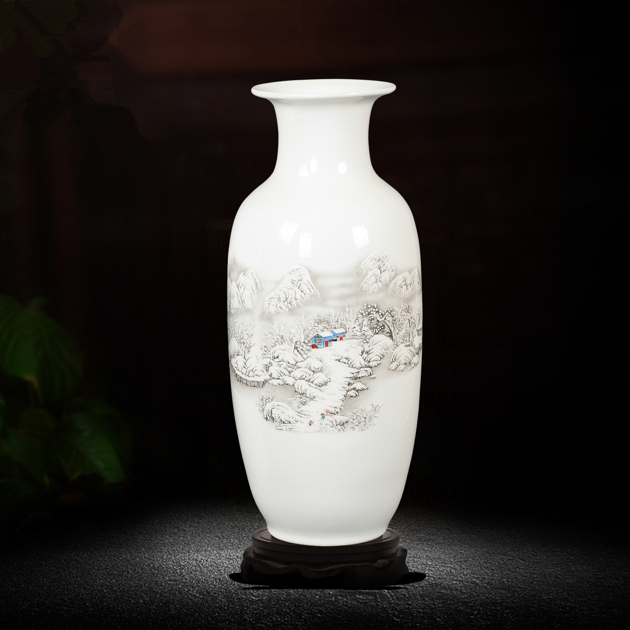 Chinese Jingdezhen Large Tabletop Decoration Flower Vase Ceramic Vase Home Decoration Traditional Chinese Art Porcelain Vase vase