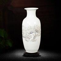 Chinese Jingdezhen Large Tabletop Decoration Flower Vase Ceramic Vase Home Decoration Traditional Chinese Art Porcelain Vase