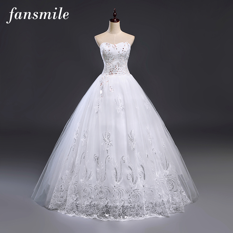Fansmile cheap free shipping lace wedding dresses vestidos for Vintage wedding dresses cheap