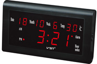 Digital LED wall Clock Modern Design With Thermometer And Hygrometer VST795w