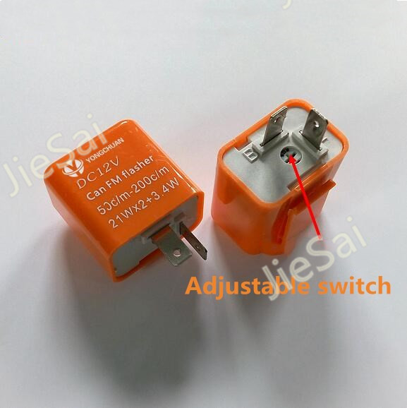 12V 160W Car Flasher Relay with Buzzer to Fix LED Light Flash Blink