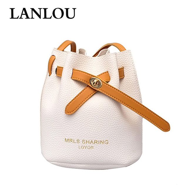 21b7c0fbcc37 LANLOU New Starter Handbag Fashion Bucket Bag Casual Shoulder Bag Luxury Handbags  Women Bags Designer Crossbody Bags for women