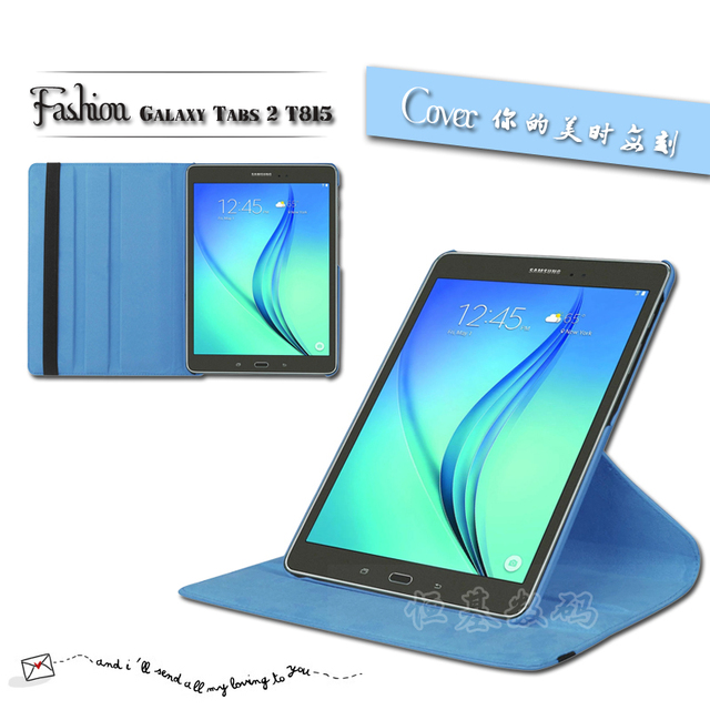 New Case For Samsung Galaxy Tab S2 9.7 inch T810 T815 Tablet PU Leather  Case Cover Rotating Free shipping 4ae1fd3e1e1e