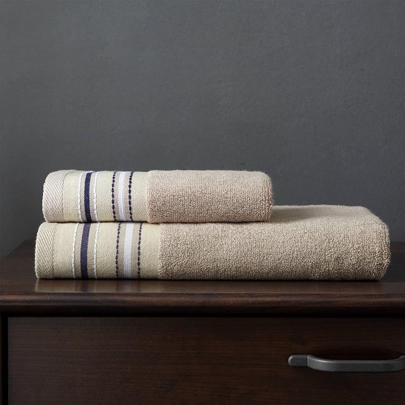 70% Bamboo fiber and 30% cotton 33*70cm*2 towel and 70*140cm*1 bath towel set 3pcs