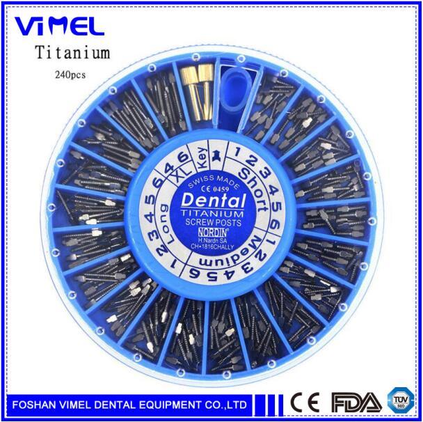 Poste de tornillo de titanio Dental 240 piezas y suministros de materiales dentales de 2 teclas-in Blanqueamiento dental from Belleza y salud    1
