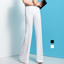 2016 spring autumn Fashion casual brand plus size high waist female women girls Flares Wide leg pants trousers clothing clothes