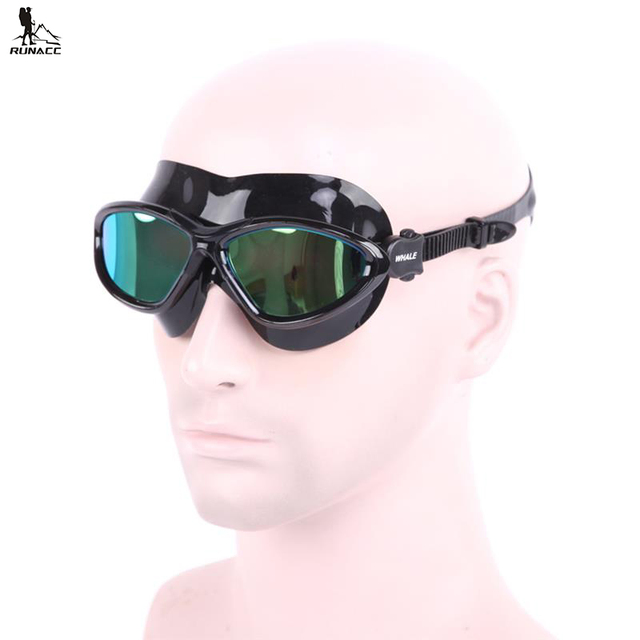 a34c3561c0c RUNACC Adults Swim Goggle Swim Goggles Portable Swimming Glasses with with  UV and Anti-fog Protection