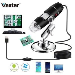 1600X Mega Pixels USB Microscope 1000X 5000X Digital Soldering Microscope Camera 8Led Endoscope Magnifier for Android MAC Window(China)