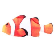 Pluszowy kreatywny karp 3d w kształcie ryby zabawka dla kota kocimiętka ryby wypchana poduszka lalka symulacja model ryby ryby wypchana poduszka lalka tanie tanio cats Myszy i zwierząt zabawki plush