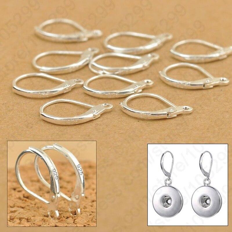 YAAMELI 100PCS Jewellery Components 925 Sterling Silver Handmade DIY Beadings Findings Earring Hooks Leverback Earwire Fittings
