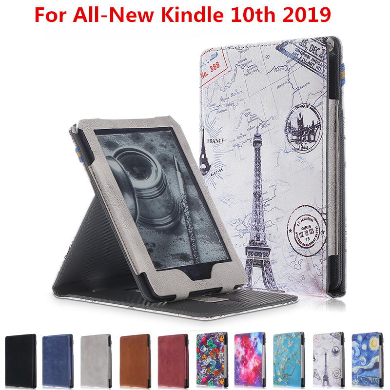 Case For New Kindle 2019 10Th Generation 2019 Release Ultra Slim PU Leather Cover For Kindle 2016 8Th Generation E-Reader Case