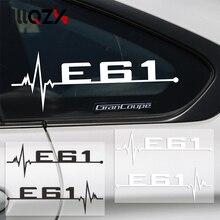 2 unids/lote M rendimiento del coche pegatina de ventana E28 E30 E34 E36 E39 E46 E60 E61 E62 E90 E91 E92 logotipo para BMW, accesorios del coche