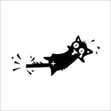1 STÜCKE DIY Kreative Schalter Aufkleber Schwarze Katze Schreien Zimmer Aufkleber Auto Aufkleber Dekorative Wandaufkleber Cartoon Tier Vinyl