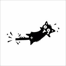 1 قطعة ملصق تحويل الإبداعية لتقوم بها بنفسك الأسود القط الصراخ غرفة ملصقات سيارة الشارات ملصقات جدار الزخرفية الكرتون الحيوان الفينيل