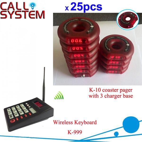 1 клавиатура 25 гостей горки пейджер 3 зарядное устройство waiter вызов клиентов личная пейджер каботажное судно подкачки система