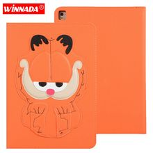 For ipad 9.7 2017 case 3D tailored Cartoon DOG Garfield Stand Protective TPU Cover for ipad air / air 2 / pro 9.7 /ipad 9.7 2018 for ipad air 2 case kids cartoon 3d protective cover for ipad air funda for ipad 2017 2018 cover capa for ipad pro 9 7 case