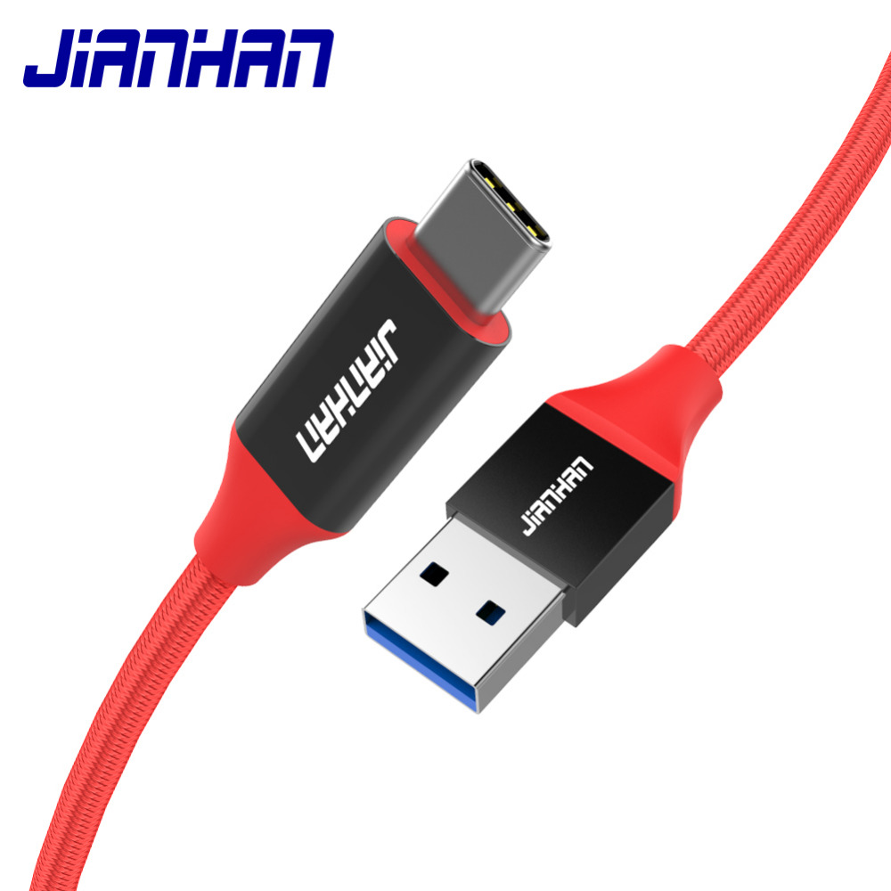 29577cf5283 JIANHAN TYPE C 3.0 2.4A Fast Charging 1.5M Quick Chargefor Samsung Galaxy  Note 8 S9 S8 Plus A7 A5 A3 USB C Cabel For Xiaomi