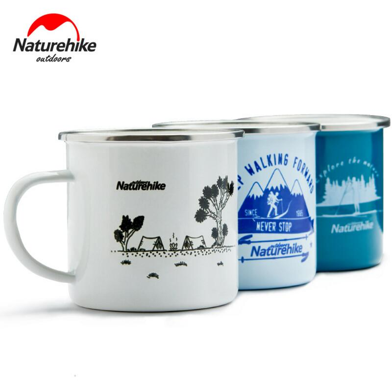 Naturehike 350ml Mugs Classical Enamel Cup Drinkware Outdoor Camping Hiking Tourist