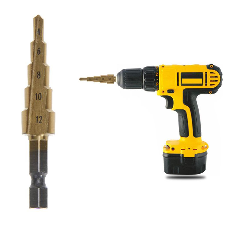 4-12mm Cone Step Drill Hole Tools Countersink Drill Bit Power Tools Step Drill Bit For Metal Tools Set Hole Cutter