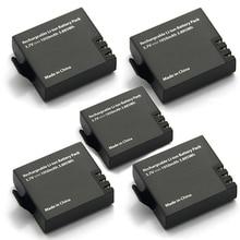5 adet orijinal Eken pil 1050mah Eken için şarj edilebilir li ion yedek pil Eken h9 h9r h8 h8r h3 h3r sjcam SJ4000 SJ5000X