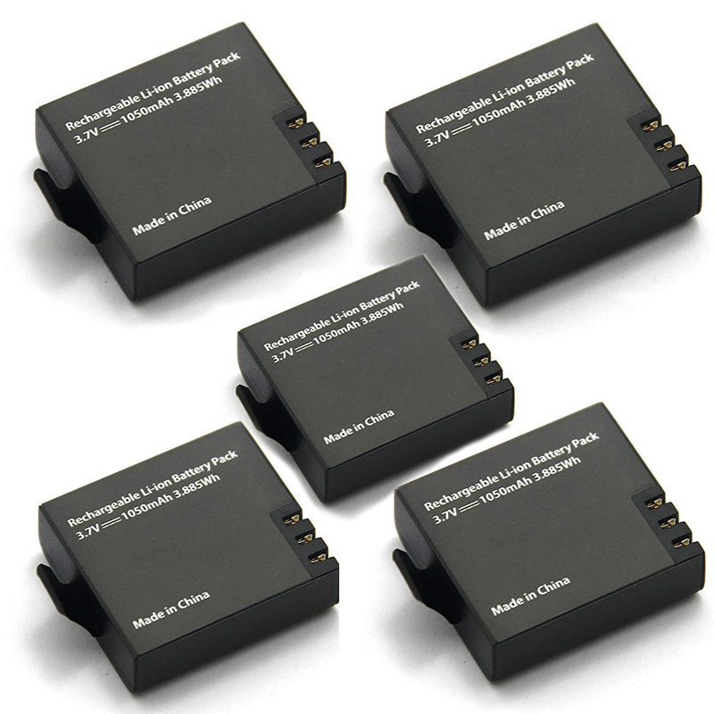 5 stücke Ursprüngliche Eken Batterie 1050 mah Eken Wiederaufladbare li-ion Ersatzakku für Eken h9 h9r h8 h8r h3 h3r Sjcam SJ4000 SJ5000X