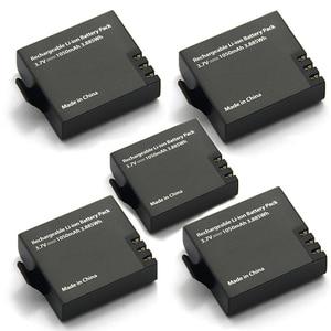 Image 1 - 5Pcs Originele Eken Batterij 1050Mah Eken Oplaadbare Li Ion Reservebatterij Voor Eken H9 H9r H8 H8r H3 H3r sjcam SJ4000 SJ5000X