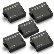 5pcs Originale Eken 1050mah Batteria Eken Ricaricabile li ion Batteria di Ricambio per Eken h9 h9r h8 h8r h3 h3r sjcam SJ4000 SJ5000X