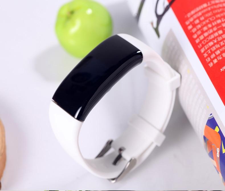 SURMOS Bluetooth font b Smartwatch b font D21 Wristband Bracelet Band Heart Rate Smartband Activity Tracker