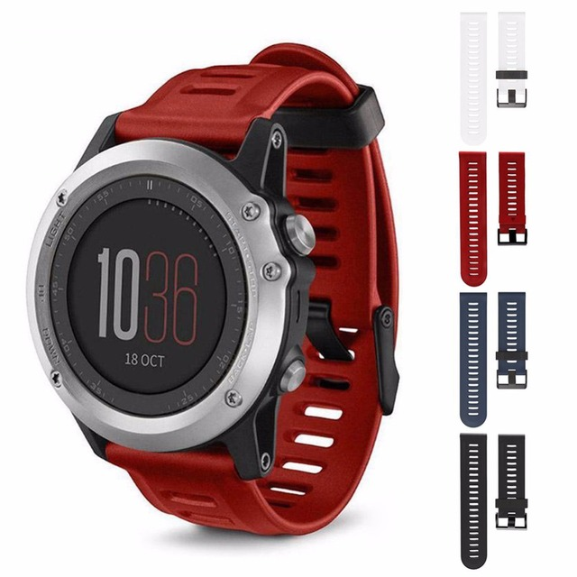 4 colors Soft Silicone Replacement Watch Band with 2 screwdrive for Garmin Fenix