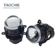 TAOCHIS 3,0 Zoll HID Bi Xenon Nebelscheinwerfer Projektor Objektiv Nebelscheinwerfer für MITSUBISHI PAJERO SUBARU CITROEN DACIA RENAULT FORD Focus