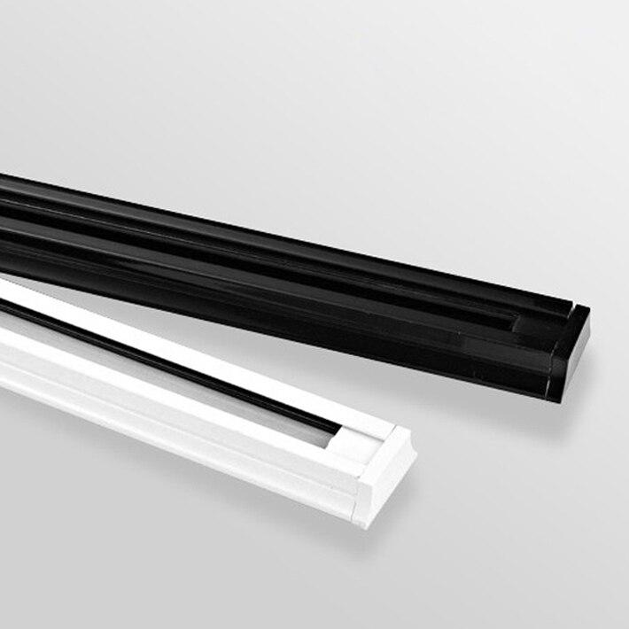 LED track light rail 1m spotlight light track white black 1 meter aluminum LED  light track with end cap
