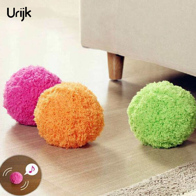 Urijk 4Pcs Dust Gone Automatic Rolling Ball Electric Dust Cleaner Mocoro Mini Sweeping Robot Brush Household Home Cleaning Tools
