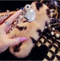 Luxury 3D Fox Rhinestone Gem Rabbit Hair Case For Samsung Galaxy S3 Mini I8190 Case Top